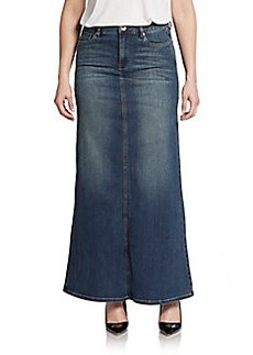 Kensie Denim A-Line Maxi Skirt