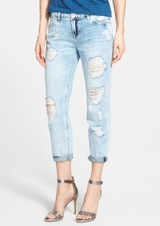 kensie Destructed Boyfriend Jeans (Good Vibration)