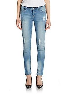Kensie Distress Ankle Jeans