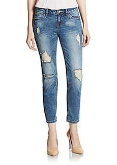 Kensie Distressed Boyfriend Jeans
