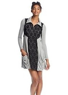 Kensie® Drapey Lace Accent Dress