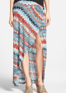 kensie 'Drippy Stripes' Maxi Skirt
