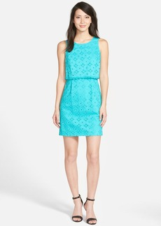 kensie Eyelet Cotton Popover Dress
