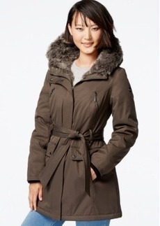 kensie Faux-Fur Puffer Anorak Jacket