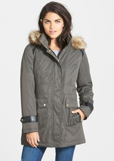 kensie Faux Fur Trim Hooded Anorak (Online Only)