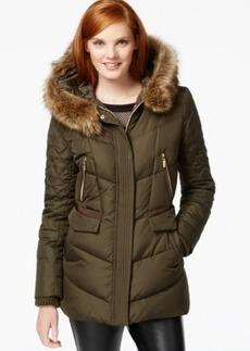 kensie Faux-Fur-Trim Quilted Puffer Coat