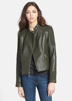 kensie Faux Leather & Faux Suede Jacket (Online Only)