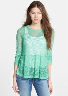 kensie Fine Gauge Slub Knit Sweater