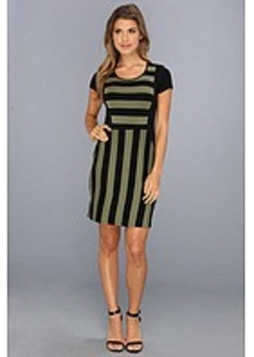 kensie Fitted Striped Dress