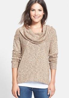 kensie Flecked Cowl Neck Sweater