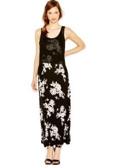 kensie Floral Popover Maxi Dress