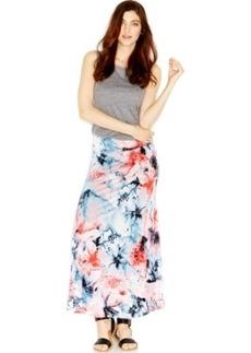 kensie Floral-Print Maxi Skirt