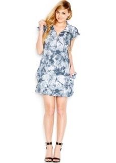 kensie Flutter-Sleeve Tie-Dye Dress