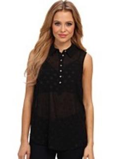 kensie Foil Dots Woven Shirt