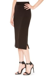 kensie French-Terry Midi Pencil Skirt