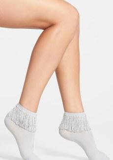 kensie Fringe Ankle Socks
