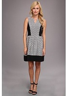 kensie Geo Brocade Dress