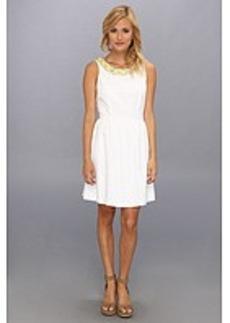 kensie Geo Eyelet Dress