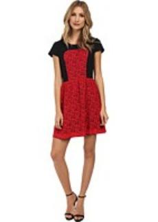 kensie Geometric Lace Dress