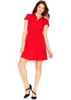 Kensie Go Red For Women Textured Dot Dress