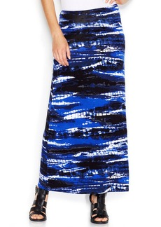 kensie Graphic-Print Maxi Skirt