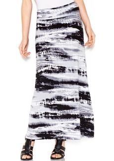 kensie Graphic-Print Maxi Skirt
