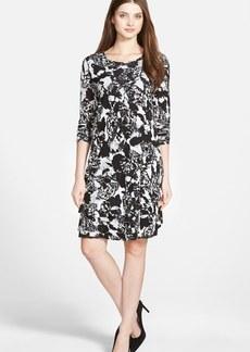 kensie 'Hidden Butterflies' Tiered Shift Dress