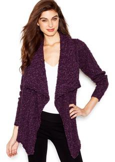 kensie High-Low Marled-Knit Cardigan
