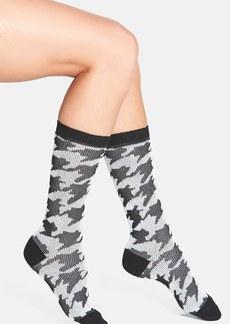kensie Houndstooth Print Socks