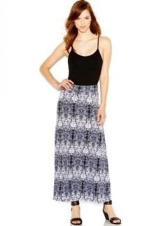 kensie Ikat-Print Maxi Skirt
