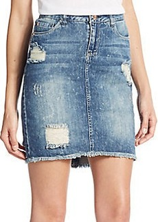 Kensie jeans Distressed Denim Mini Skirt
