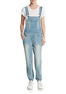 Kensie jeans Knit Denim Sweatpant-Overalls