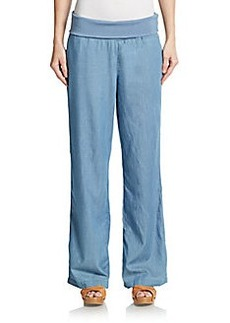 Kensie jeans Wide-Leg Chambray Pants