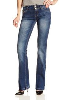 Kensie Jeans Women's Curvy Bootcut Jean with Flap Back Pocket