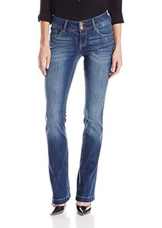 Kensie Jeans Women's Curvy Bootcut with Flap Back Pocket