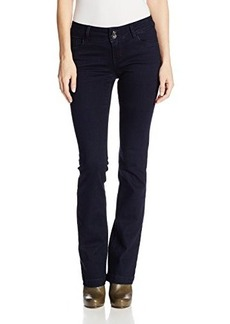 Kensie Jeans Women's Curvy Bootcut With Flap Back Pocket In Midnight Blues
