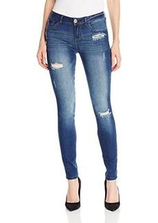 Kensie Jeans Women's Denim Skinny Jean with Distructions