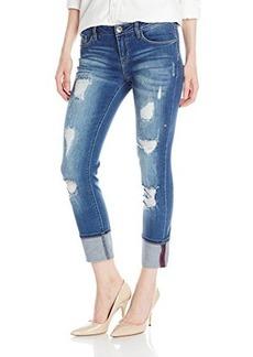Kensie Jeans Women's Downtown Roll Cuff Denim Capri