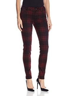 Kensie Jeans Women's Overdyed Plaid Denim Ankle Pant
