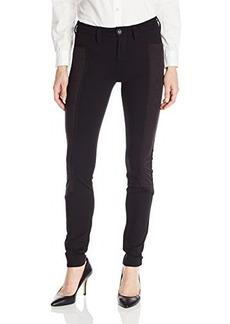 Kensie Jeans Women's Suede Ponte Moto Skinny Pant