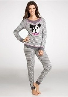 Kensie Keepin' Cozy Novelty Dog Thermal Pajama Set