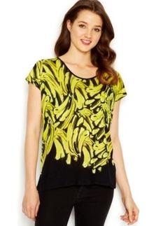 Kensie Knit Bananas-Printed Tee
