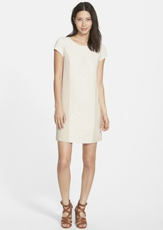 kensie Lace Overlay Drapey French Terry Dress