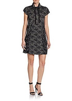 Kensie Lace-Print French Terry Dress