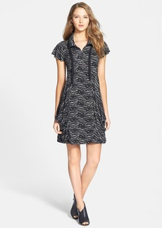 kensie Lace Print French Terry Dress