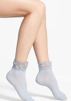 kensie Lace Trim Anklet Socks