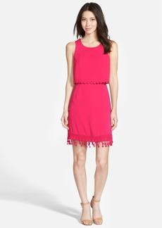 kensie Lace Trim Popover Dress