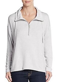 Kensie Lace Zip Sweater