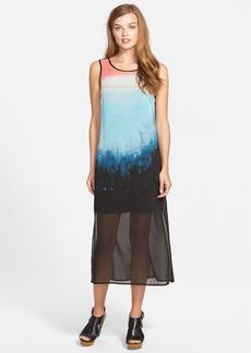 kensie 'Landscape' Print Chiffon Maxi Dress
