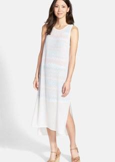 kensie Layered Chiffon & Jersey Shift Dress